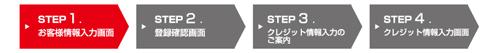 STEP1 お客様情報入力画面(SP用)
